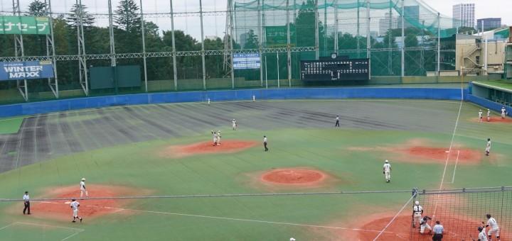 秋季高等学校野球大会「二松學舍大附 − 帝京」