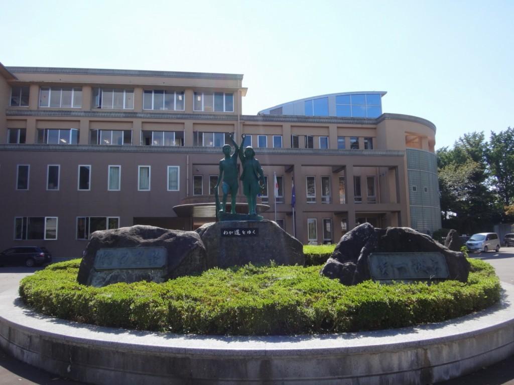 水戸城跡地にある茨城県立第一高等学校