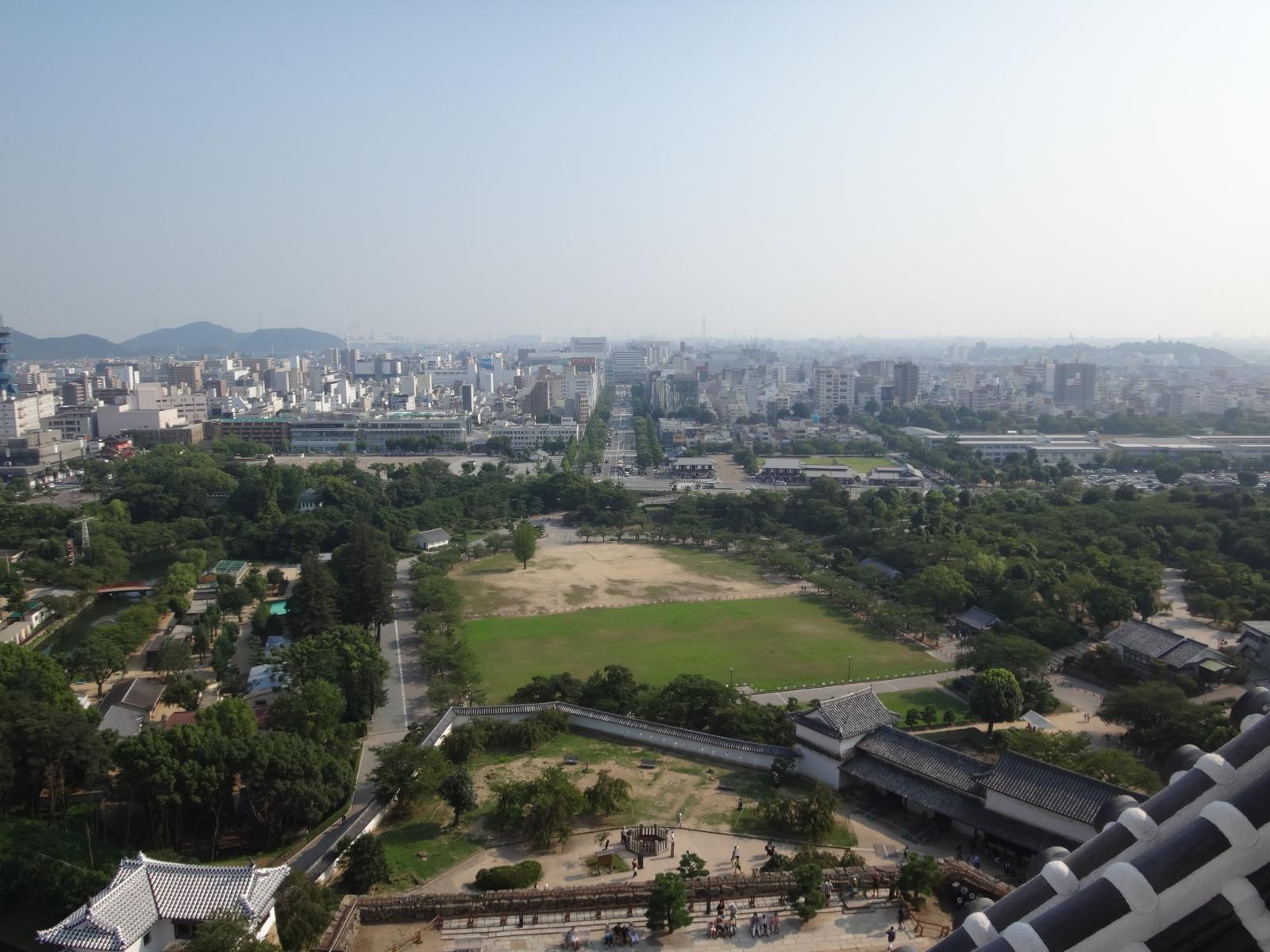新しくなった「姫路城 天守閣」からの眺望