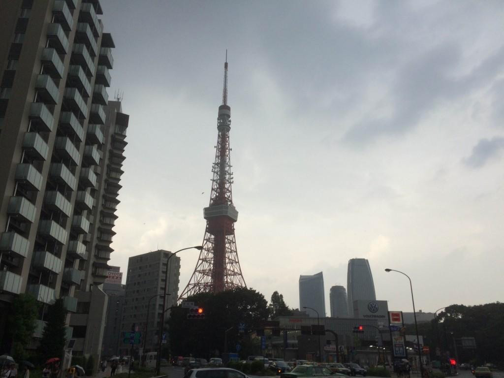 三田から見た東京タワー