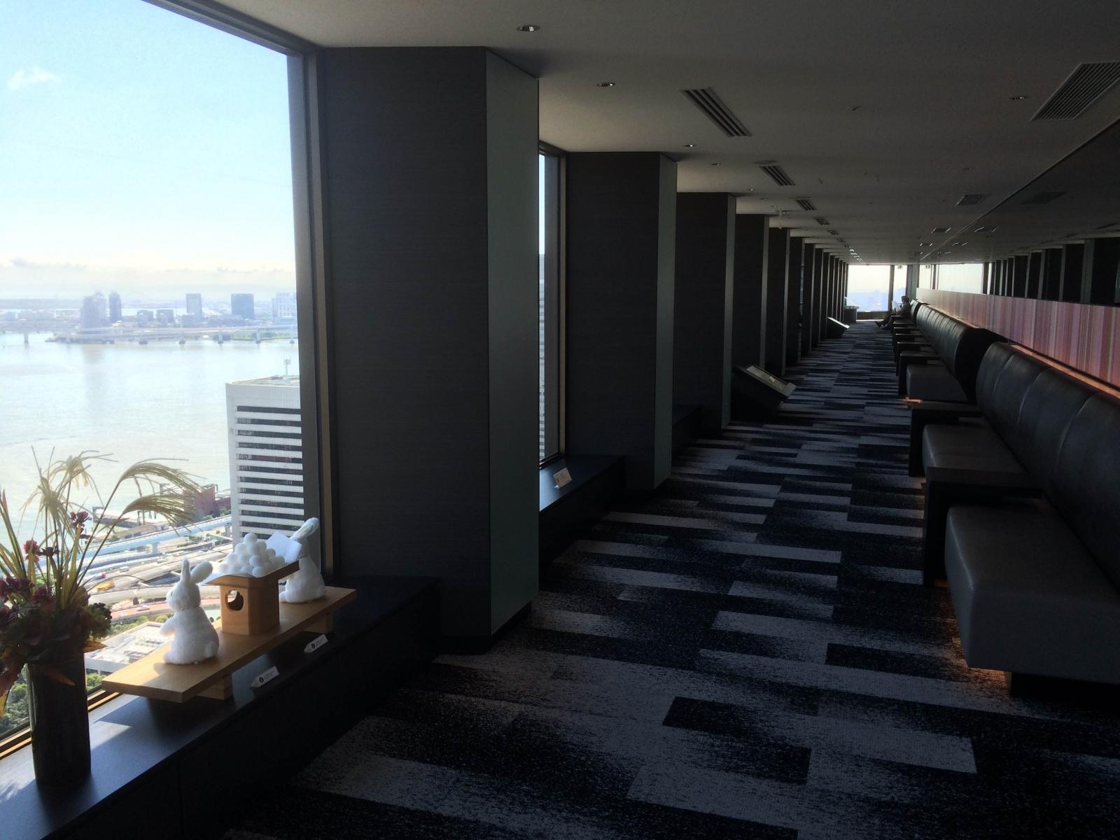 世界貿易センタビルの展望台で