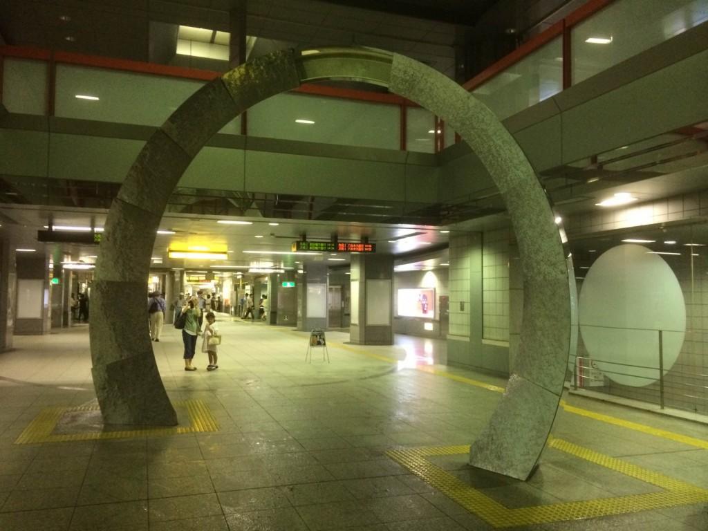 都庁前駅にて